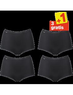 Sloggi Femmes Basic Maxi Slip Noir 4Pack