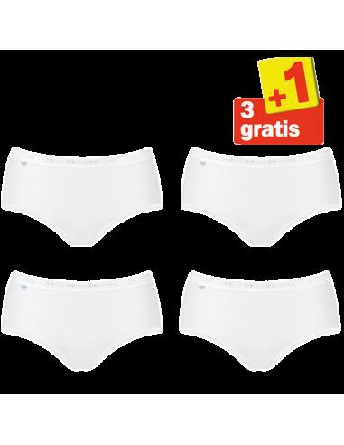 Sloggi Dames Basic Midi Slip White 4Pack