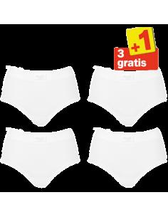 Sloggi Dames Double Comfort Maxi 4 pack White 3+1 Gratis